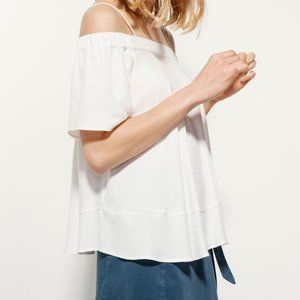Massimo Dutti Off The Shoulder Flowy Tunic Top S